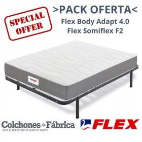 PACK COLCHÓN FLEX BODY ADAPT 4.0 + SOMIER FLEX SOMIFLEX F2