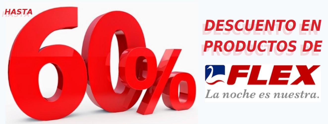 Hasta 60% de descuento en la marca FLEX