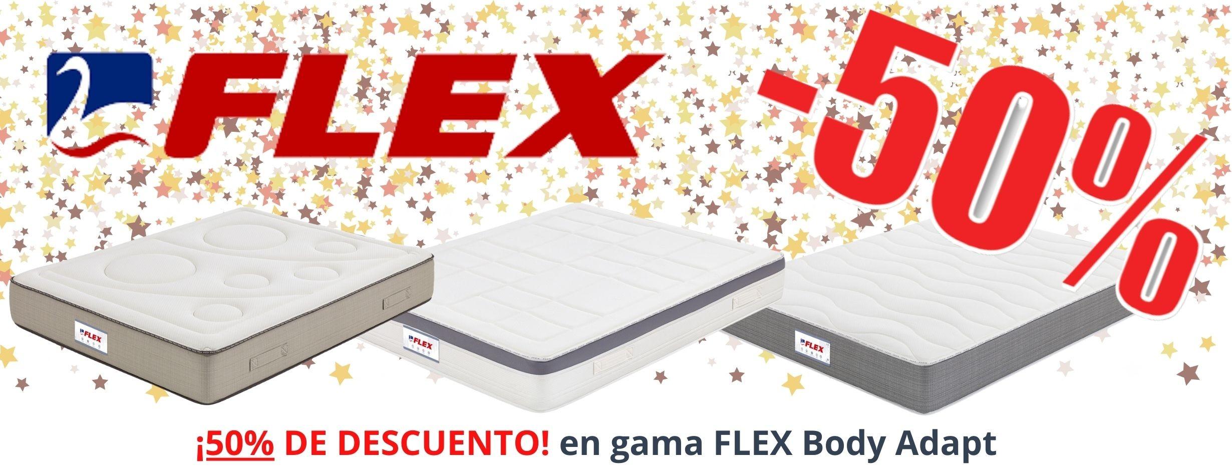 50% de descuento en la gama FLEX Body Adapt